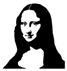 "Mona Lisa with hair parting extended, thus eliminating ""floating negative space"" Made for a 'street art' workshop. Pencil Art Drawings, Art Drawings Sketches, White Art, Black Art, Tableau Pop Art, Pop Art Portraits, Stencil Art, Stencil Street Art, Silhouette Art"