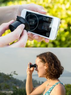 The #iPhone #Viewfinder attaches to your phone's screen to become an eyepiece like the one you know and love on your non-phone camera. It uses a clever screw-on suction pad to temporarily vacuum itself in place without leaving any funky marks.