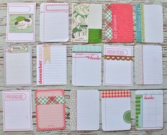 December 3 x 4 Journal Cards by Michelle Wooderson