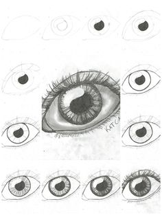 How to draw an eye step by step DIY instructions ♥ How to, how to make, step by step, picture tutorials, diy instructions, craft, do it yourself ❤