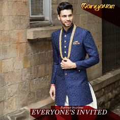 A wedding collection that will leave you spoilt for choice. Fine Suits, Jackets, Sherwanis for the man among men. #CelebrationWear