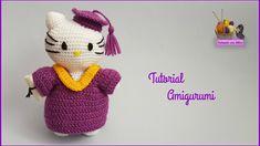 Tutorial amigurumi Hello Kitty graduación