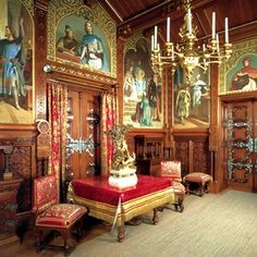 Interior Neuschwanstein Sleeping Beauty Castle | This is the music room, which I automatically like, although does ...