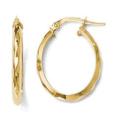 Polished 24MM Twisted Hinged Hoop Earrings In 14K Yellow Gold Gemologica.com offers a #unique #simple selection of #gold #earrings for #women. Collection includes #stud #hoop #dangle #drop #styles #Jewelry crafted in 10K 14K 18K #yellow #rose #white #two-tone #tri-tone #metal. Shop #Gemologica #jewellery now for #handmade #fashion #fine #custom #style jewelry