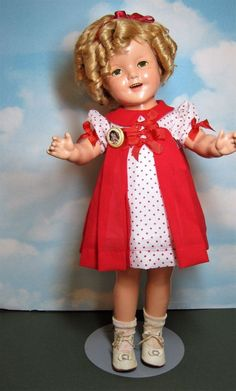 """Vintage 1930's Composition Shirley Temple 22"""" Doll with 2 Outfits Beautiful Doll #IDEAL #1930sShirleyTempleDoll"""