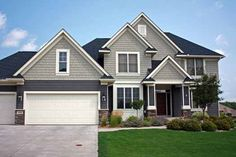 Craftsman Style House Plans - 2841 Square Foot Home , 2 Story, 4 Bedroom and 2 Bath, 3 Garage Stalls by Monster House Plans - Plan 38-421