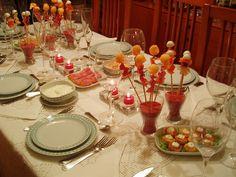 10 entrantes para navidad Ideas Para Fiestas, Poinsettia, Finger Foods, Table Settings, Food And Drink, Appetizers, Snacks, Cooking, Healthy