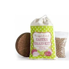Eco-friendly grass that you grow in your Easter basket for the Easter bunny! #HFecofriendlyeaster