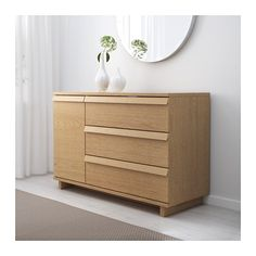 for tv: OPPLAND 3-drawer chest with 1 door, oak veneer oak veneer 47 1/4x31 1/2