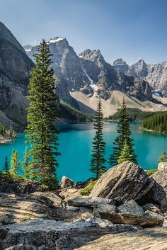 "Photo ""Moraine Lake"" by Steven Blackmon ( Beautiful Nature Pictures, Amazing Nature, Nature Photos, Beautiful Landscapes, Beautiful World, Landscape Photos, Landscape Photography, Nature Photography, Belle Image Nature"