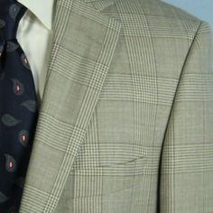 Hugo Boss Pasini2 Virgin Wool Linen Mens 38R Jacket Glen Plaid Sport Coat Blazer #HugoBoss #TwoButton