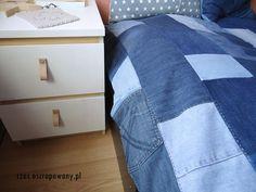 czas oscrapowany: Jeansowa narzuta na łóżko.