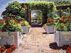 Italian Elegance - acrylic on canvas David Lloyd Glover