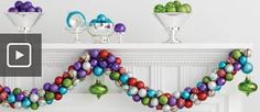 How to Make an Ornament Garland: good use for all those ornaments from work