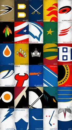 HOCKEY TEAMS LOGO-NHL