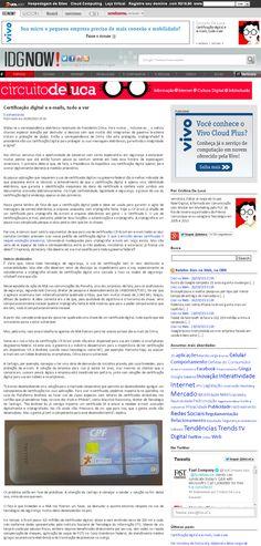 Título: Certificado digital e e-mails, tudo a ver; Veículo: blog Circuito Deluca, no IDGNOW!; Data: 28/09/2013; Cliente: Certisign.