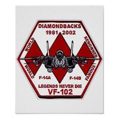"""VF-102 DIAMONBACKS Tomcat Farewell 1981-2002 """"Legends Never Die"""" 5"""""""