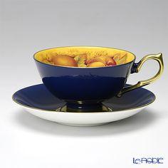 Einzurei Orchard Gold # 1034  Tea cup and saucer (Athens) cobalt 200ml
