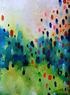 Art Abstrait Aquarelle et encre sur papier 90 % fibres de bambou 10 % coton (265g/m²) Dimensions 24 * 32 cm Oeuvre originale titrée, datée et signée Celine-artpassion