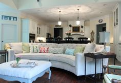 The Riemann Curved Tufted Sectional looking amazing in @Julie Ryan 's home.