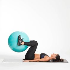 Tone your entire body with this circuit using the TIU Exercise Ball! Abs, booty, arms and cardio! Tone It Up!