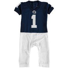 #1 Penn State Nittany Lions Newborn & Infant Fast Asleep Pajama Jersey Jumper - Navy - $34.99