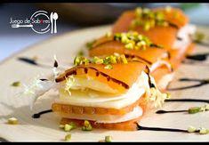 JUEGO DE SABORES : MILHOJAS DE MEMBRILLO Tapas, Tostadas, Food Menu, Catering, Sushi, Food And Drink, Appetizers, Cheese, Cooking