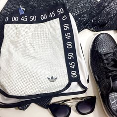 FINAL PRICE Topshop x Adidas Leather Front Shorts Final price, no additional discounts Leather front shorts from Topshop and Adidas collab in a classic running short silhouette. Size US 8 (UK 12). Elastic waist and pockets. NWT. Topshop Shorts
