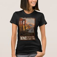 Rome Roma Italy Itallia Vintage Travel Poster Art T-Shirt - tap to personalize and get yours Oslo, Retro Fashion, Vintage Fashion, Retro Gifts, When It Rains, Vintage Travel Posters, Retro Outfits, Shirt Style, Fitness Models