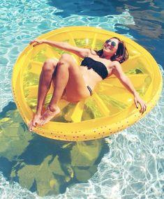 Lemon pool float available at alwaysfits.com.