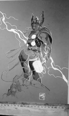 Thor Commissions by Pepe Larraz, via Behance Comic Book Artists, Comic Book Characters, Marvel Characters, Comic Artist, Comic Character, Comic Books Art, Arte Dc Comics, Marvel Comics Art, Marvel Heroes