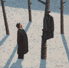 Mark Edwards - Looking At All The Coats, 2016 Surrealism, Coats 2016, Landscape, World, Gallery, Drawings, Dogs, Paintings, Artists