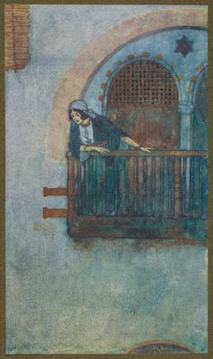 When Morgiana who had remained all this time on the watch. (Edmund Dulac)