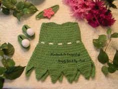 crochet Tinkerbell (Inspired) Dress set  Baby Photo props costume set