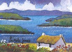 ACEO OriginalAquarell Connemara Cottage von Pamelajonesartstudio, £4.50