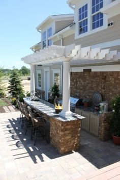 Perfect Blend of the craftsman style w/ a pergola.