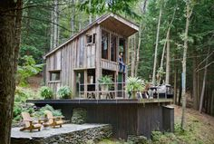 adventure journal -  off the grid cabin new york