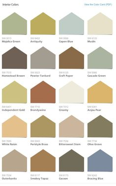 Sherwin Williams/HGTV HOME Neutral Nuance Color Palette interior paint