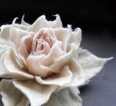 Beautiful felted flower pin $25