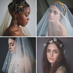 Gorgeous Veils and Hair Accessories from What Katy Did Next | www.onefabday.com