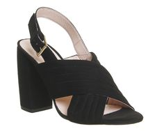Buy Black Suede Office Americana Block Heels from OFFICE.co.uk.