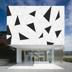 Triangles - Outdoor | Modula Wall | Yellow Goat Design | Custom Design