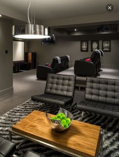 Man cave home theater and lounge area