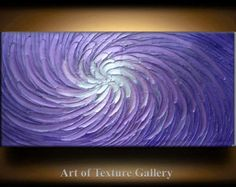 Abstract Painting 52 x 26 Original Custom Heavy von artoftexture