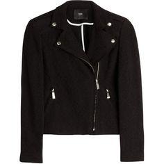 Steffen Schraut Avenue Cotton Biker Jacket (€94) ❤ liked on Polyvore featuring outerwear, jackets, tops, coats, black, slim motorcycle jacket, black biker jacket, cotton moto jacket, black motorcycle jacket and moto jacket