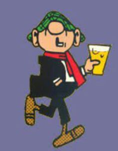 andy capp Famous British Cartoon characters mixed in with real celebrities and icons Andy Capp, Old Comics, Classic Cartoons, Retro Cartoons, My Childhood Memories, African History, The Good Old Days, Illustrations, Comic Character