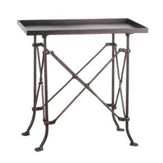 """Arrange framed photos and stacked art books on this essential table, perfect accenting your living room or parlor ensemble.  20"""" x 20"""" x 12"""".  $71.99"""