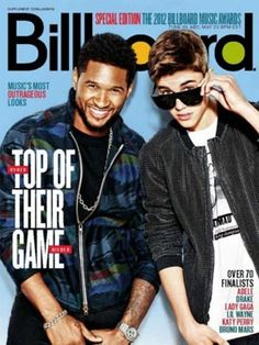 Justin Bieber and Usher on the Cover of Billboard Magazine