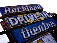 Photo Retouching - Old Drive-In Theatre ~ by Lcolerick