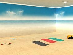 yoga room #home #decor